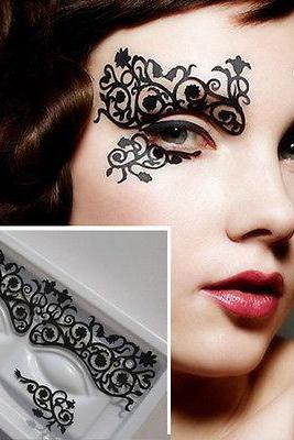 1Pair Women Girl Party Fancy Makeup Eye Eyeshadow Stickers Flowers Temporary