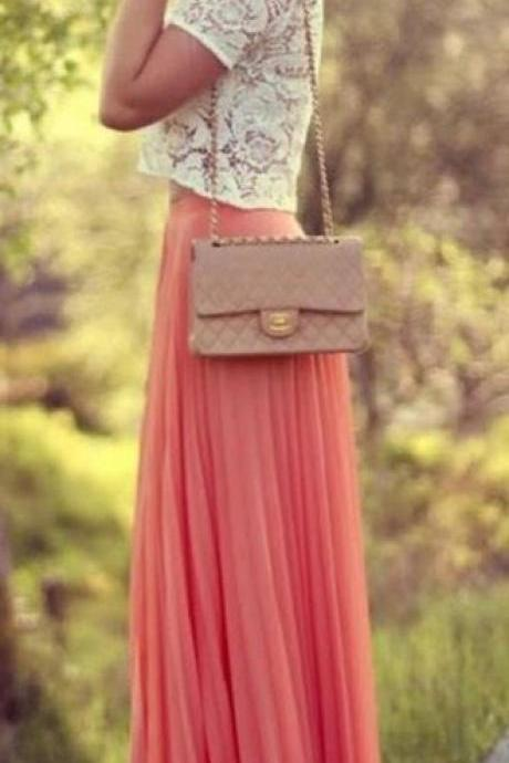 2015 Fashion Street Style Skirt,Tulle Skirt,Charming Women Skirt,spring Autumn Skirt ,Long Skirt
