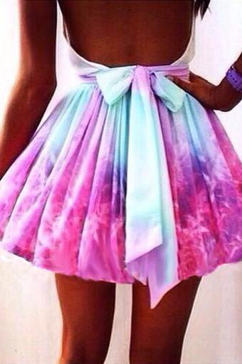 Galaxies Short Dress