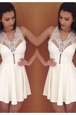 Fashion Women Sleeveless Lace Splice Prom Evening Sexy Party Cocktail Mini Dress