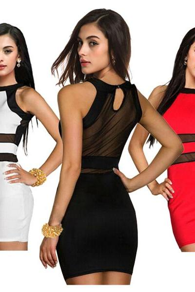 New Women Bandage BodyCon Lace Evening Sexy Party Cocktail MINI Dress 3 Colors