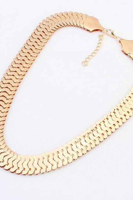 Charms Fahsion Jewelry Elegant Gold Plated Chain Necklace Joker Sweater Chain