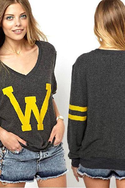 Fashion Women Loose Pullover Sweatshirt Hoodies Casual Sweater Tops Coat Shirt