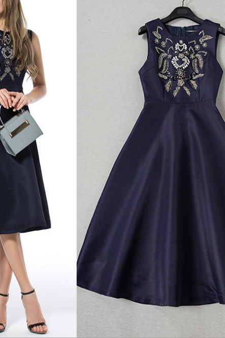2015 manual nail bead high-end dress dress