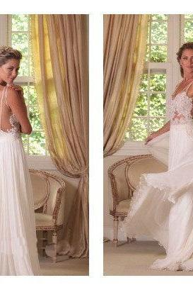 Top selling see through open back lace wedding dress 2015,v neck off the shoulder sexy beach wedding dresses,custom made wedding gown,bridal dress,bridal gowns