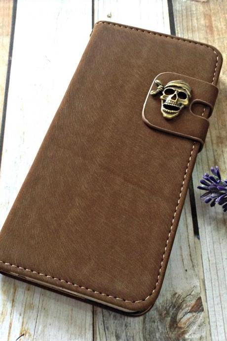 Skull iPhone 6 wallet case, iPhone 6 plus wallet case, iPhone 5 5s wallet case