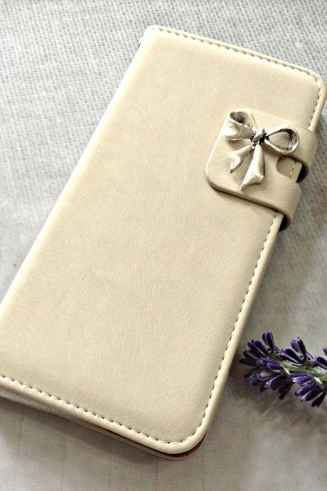 Bowknot iPhone 6 wallet case, iPhone 6 plus wallet case, iPhone 5 5s wallet case