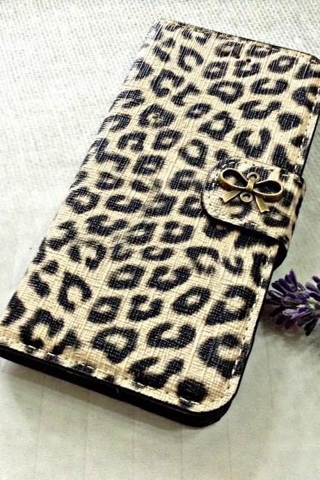 Bowknot iPhone 6 wallet case, iPhone 6 plus wallet case, iPhone 5 5s 5c wallet case, Samsung galaxy S5 S4 S3 wallet case, Samsung galaxy note 4 note 3 case
