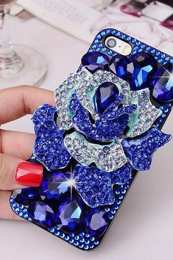 Luxury Bling Rose case iPhone 6 plus case,iphone 5/5s/5c/4s/4 ,Samsung Galaxy S3/S4/S5 cover,Samsung Note 1/2/3/4,Mega 5.8/6.3,Htc One