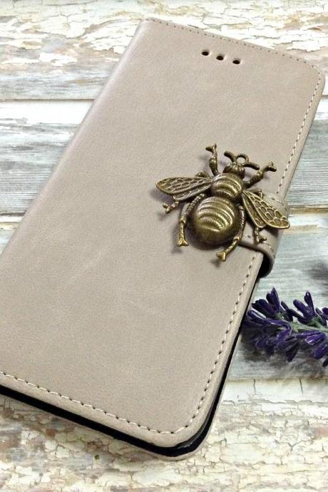 Bee iPhone 6 wallet case, iPhone 6 plus wallet case, iPhone 5 5s 5c wallet case, Samsung galaxy S5 S4 S3 wallet case, Samsung galaxy note 4 note 3 case