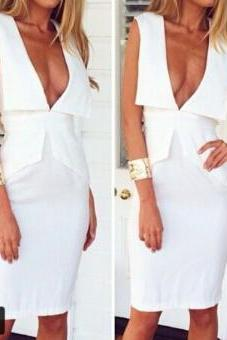 Fashion V-Neck Sleeveless Dress
