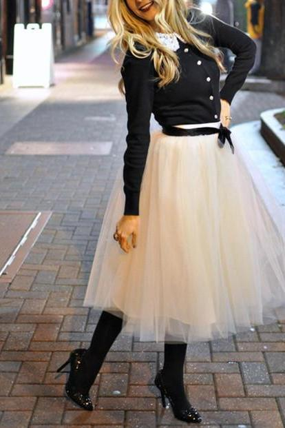 S-11 Fashion Skrirt , Street Style Skirt,Tulle Skirt,Charming Women Skirt,spring Autumn Skirt