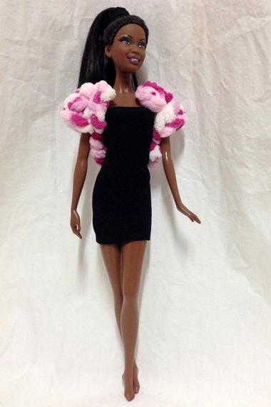 Barbie Doll Crochet Fur Coat – Pink