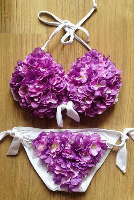 Three-Dimensional Flowers Bikini FF2Aa