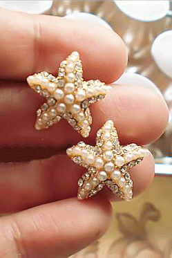 STARFISH PEARL FASHION EARRINGS AEBGEE