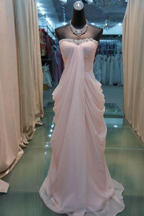 Pd413 High Quality Prom Dress,Chiffon Prom Dress,A-LineProm Dress,Strapless Prom Dress,Sequined Prom Dress