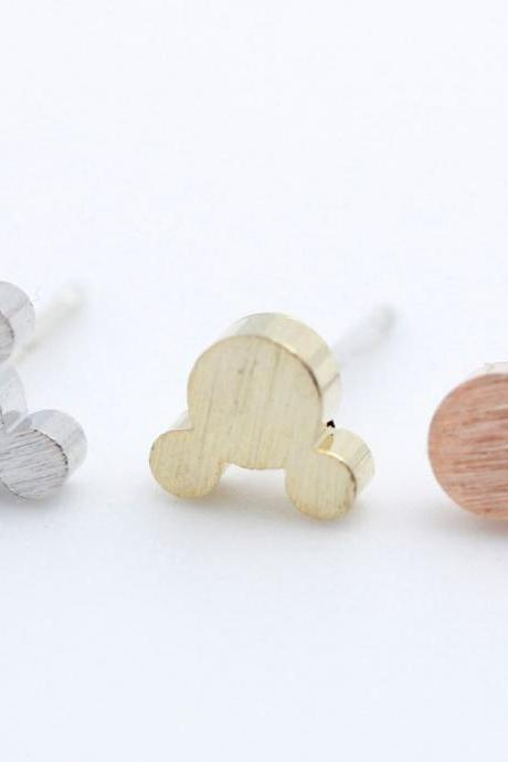 Tiny Mouse studs earrings in 3 colors