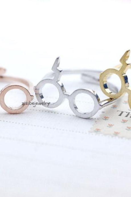 Cute Harry Potter Glasses Adjusted Ring in 3 colors, R0044K
