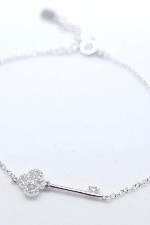 925 sterling silver Key to your heart Bracelet - Celebrity Style