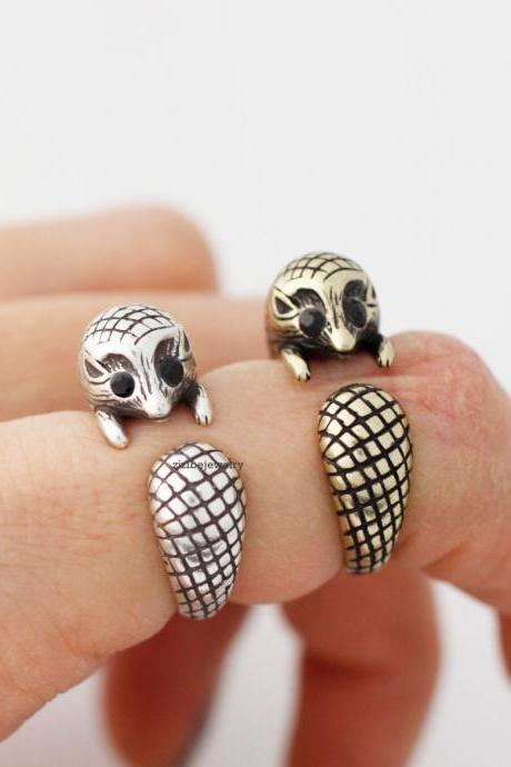 Cute Hedgehog adjustable ring, R0372S