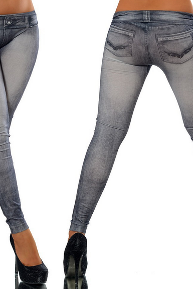 Fashion Seamless Leggings Denim Leggings