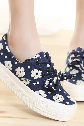 Sen female floral shoes to help low canvas shoes 1(out of sale)
