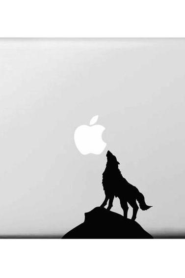 "Wild wolf sticker for macbook decal, carved painting macbook air 11"" sticker, macbook air 13"" stickers, macbook pro retina decal"