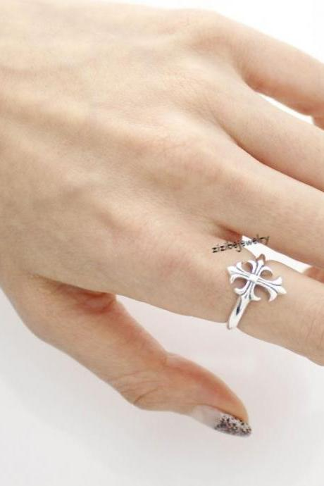925 Sterling silver Antique Cross Ring, R0407S