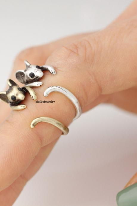 Cute Mouse Wrap Ring in 2 colors