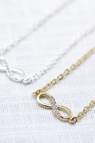 Infinity Bracelet in Silver and Gold