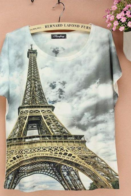 Paris Love AdventureTop Girl Tee