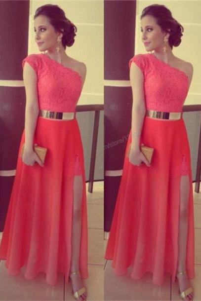 Pd416 High Quality Prom Dress,Charming Prom Dress,A-Line Prom Dress,One-Shoulder Prom Dress