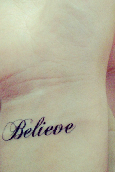 4Pcs Believe Waterproof Tattoo Stickers