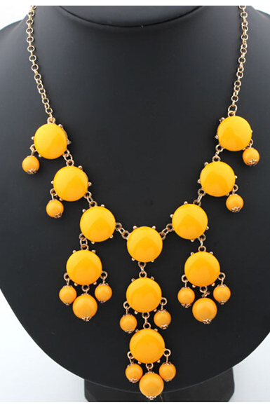 Bubble necklace resin new necklace