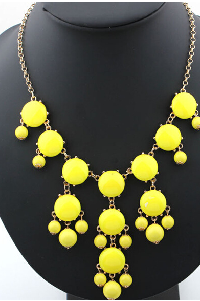 Bubble necklace resin new necklace001
