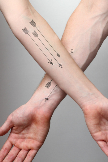 4Pcs Cool Arrows Waterproof Tattoo Stickers