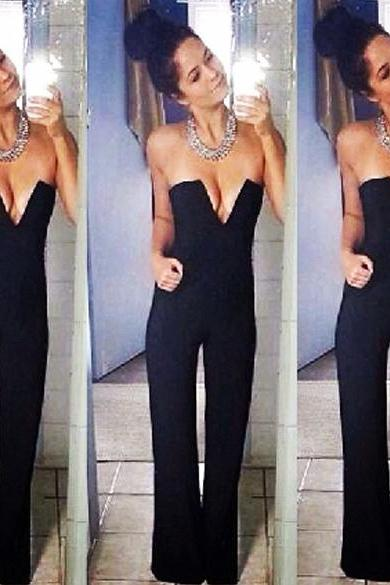 New Sexy Bodycon Jumpsuit Trousers Rompers Evening Party Casual Sleeveless Playsuit