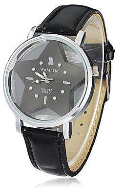 Trendy dress teenage party black star watch