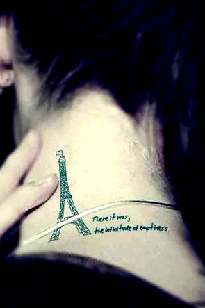 4Pcs Eiffel Tower Waterproof Tattoo Stickers