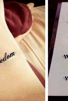 4Pcs Freedom Waterproof Tattoo Stickers