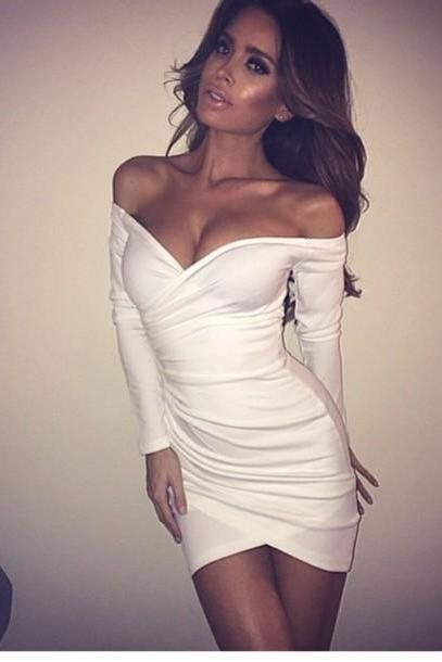 FASHION HOT CUTE SEXY ONE WORD DRESS
