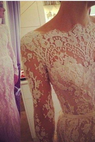 Lace Wedding Dresses/ white Bridal Dress/ ivory Wedding Gowns/lace Prom Dress/ Wedding Dresses, weddings