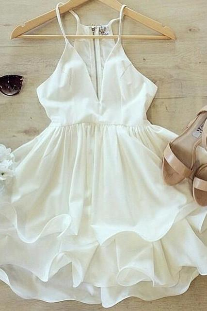 on sale FRESH SEXY FLOWER WHITE DRESS HIGH QUALITY