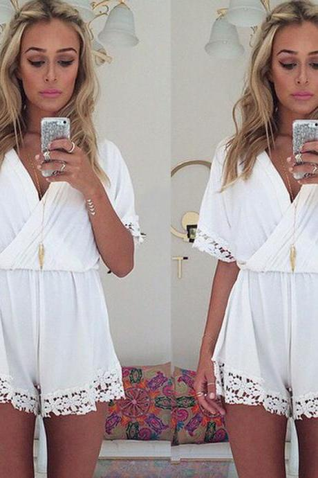 on sale CUTE LACE JUMPSUIT ROMPER