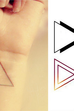 4Pcs Stylish Triangles Tattoo Stickers