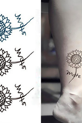 4Pcs Sunflower Waterproof Tattoo Stickers