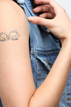 4PcsTwo Lovely Elephants Tattoo Stickers