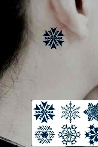 Beautiful Snowflakes Tattoo Stickers 4 Pieces