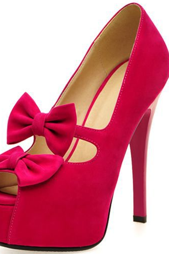 Fashionable high-heeled shoes, fish head waterproof bow sandals new trend