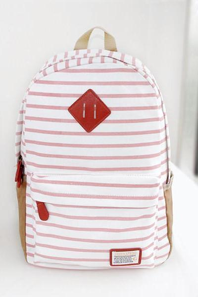 Stripes Printed Backpack